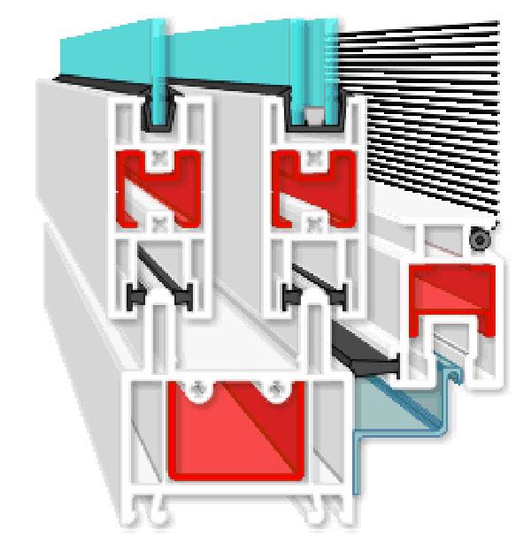 Пвх профиль slidors для изготовления раздвижных конструкций .